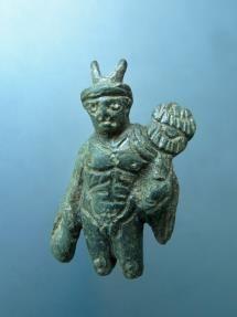 Roman bronze figurine of Hermes.