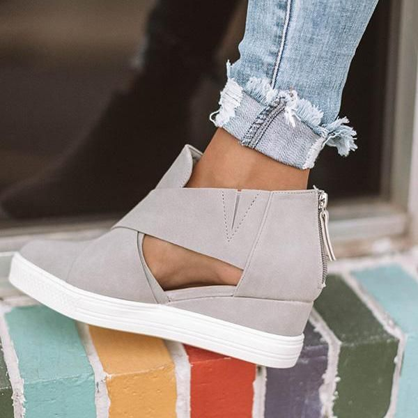 4259580f86d Women Fashion Stylish Wedge Sneakers | ShOes in 2019 | Wedge ...