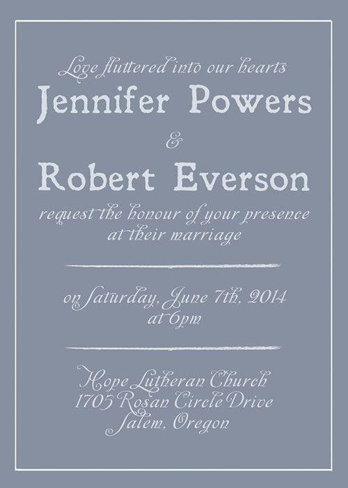 simple dusty blue wedding color inspired wedding invitations EWI384 #weddinginvitations