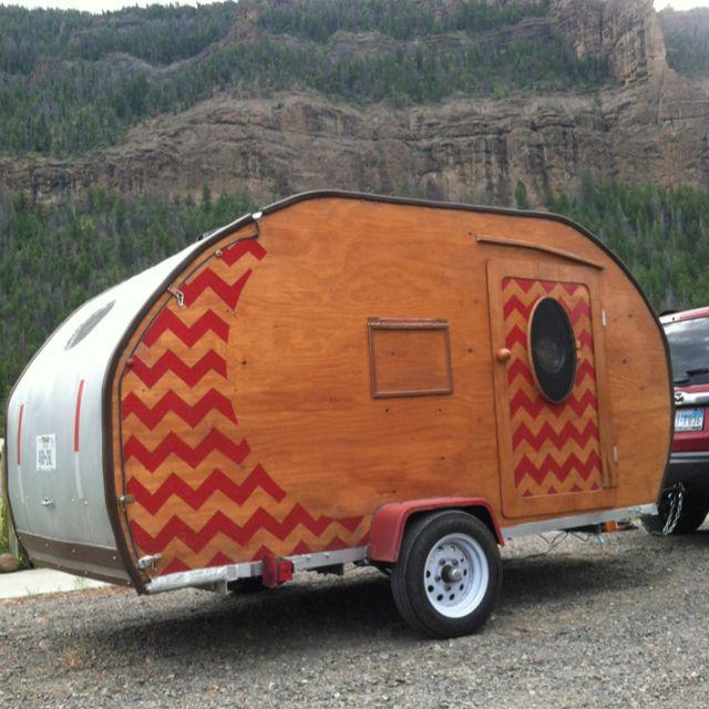 Chevron on a teardrop trailer!