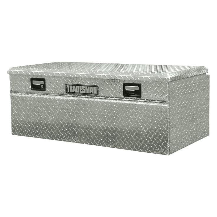 single lid wide design flush mount truck tool box