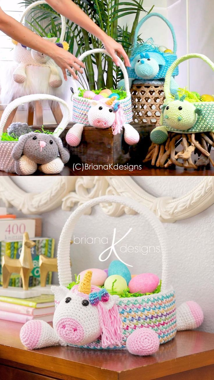 Crochet Easter Baskets (Unicorn & More) –  –