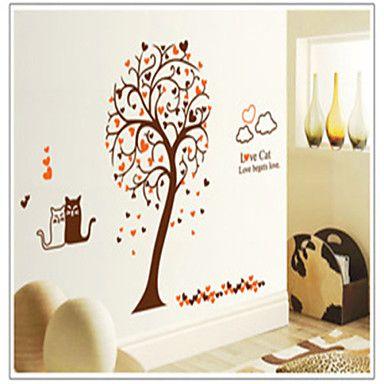 αυτοκόλλητα τοίχου αυτοκόλλητα τοίχου, αγάπη PVC αυτοκόλλητα τοίχου γάτες » – EUR € 6.71