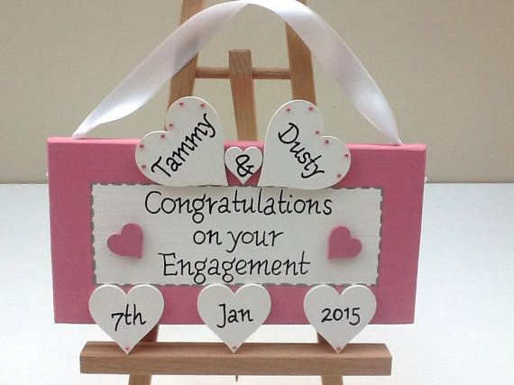 Personalised engagement gift.  Unique Engagement present idea. Personalized engagement Keepsake