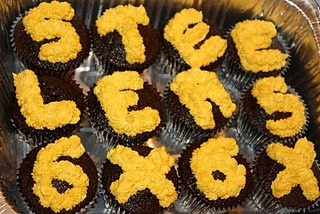 Another delicious cupcake recipe - chocolate buttery nipple cupcakes, decorated for the Steelers 6th Superbowl!
