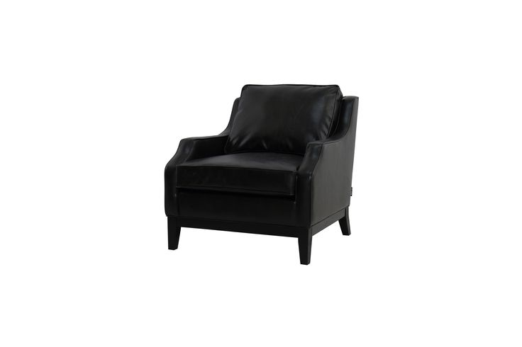 armchair hemingway 77x86x84 cm black pu leather*