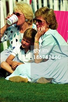WINDSOR - JULY 23: Diana, Princess of Wales and Prince William attend Cartier International Polo Day on July 23, 1989 in Windsor, England . (Photo by Anwar Hussein/Getty Images)