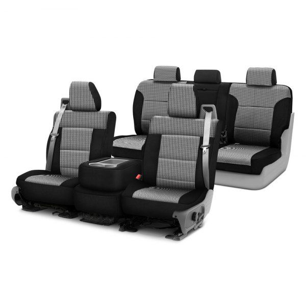 Image may not reflect your exact vehicle! Coverking® - Designer Printed Neosupreme Custom Seat Covers Two Rows