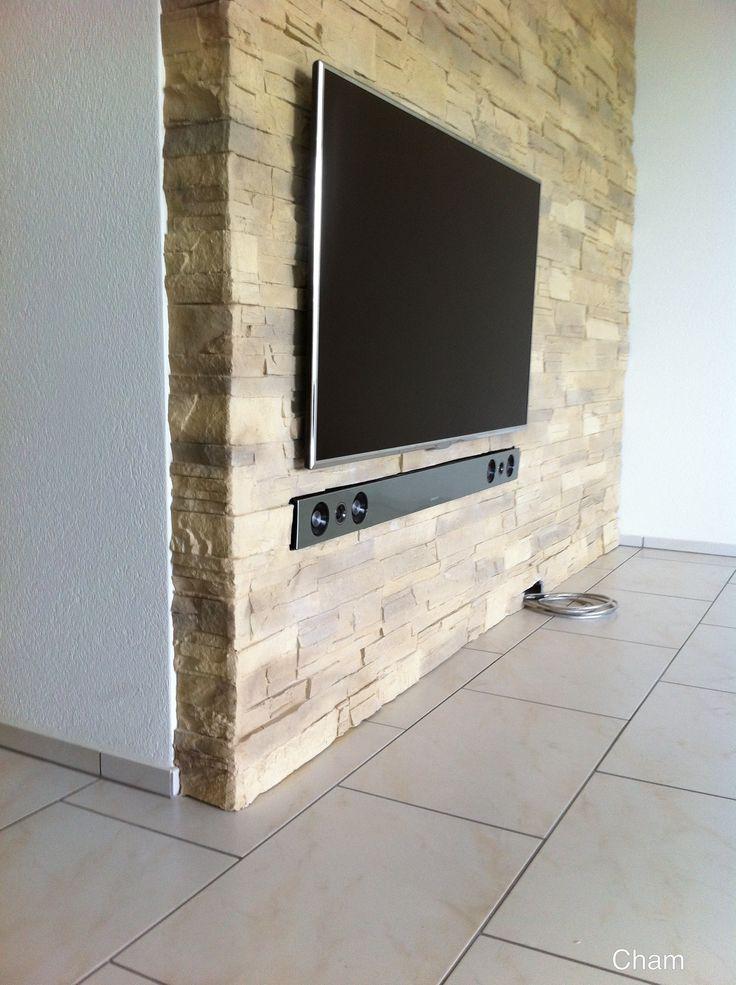 16 best TV Wand mit Steinoptik images on Pinterest | Wohnzimmer ...