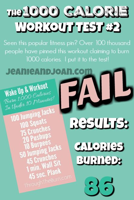 1000 Calorie Workout Test - Can you really burn 1000 calories with this popular workout? The answer is NO. Read on to see my test using my heart rate monitor and how you actually only burn 86 calories in just over 10 minutes, NOT 1000 calories as claimed!