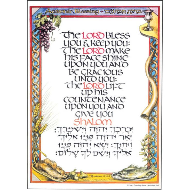 Shabbat Wishes Home 187 Aaronic Blessing Poster Forgive