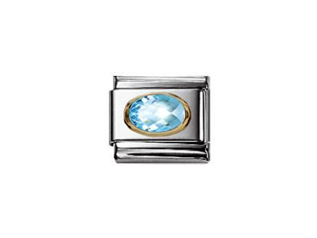 Nomination Composable Women's Bead Classic in Steel Silver 925 + Turquoise Stone DwEuJ