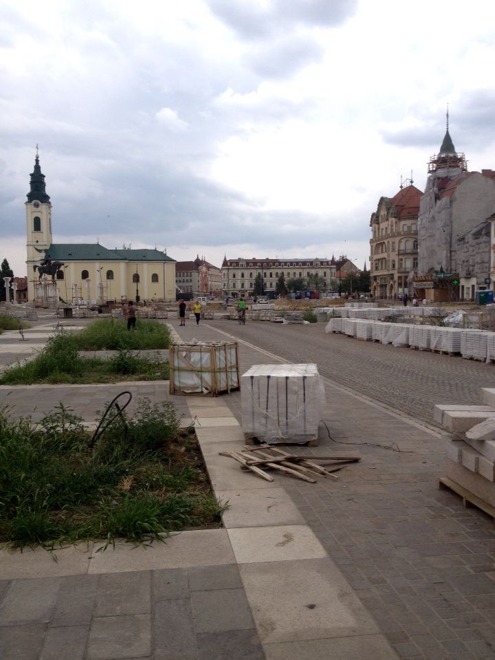 Though the central part of #Oradea #Romania is under construction, it's still a #beauty #town. #visitoradea #August2015