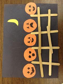 Preschool Crafts for Kids*: Halloween Five Little Pumpkins Preschool Craft
