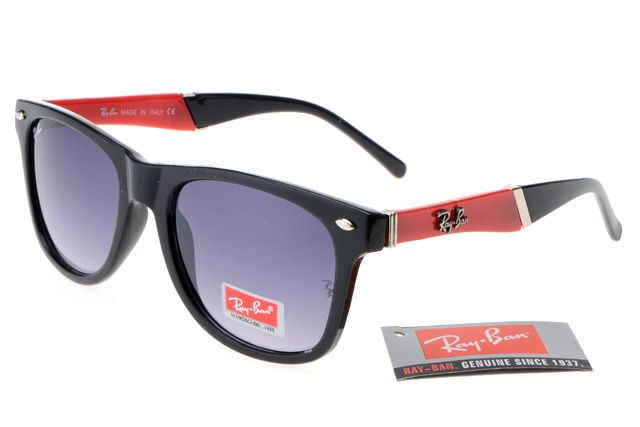 Ray Ban Wayfarer RB627 Black Red Frames Grey Lens Cheaps1334 Online