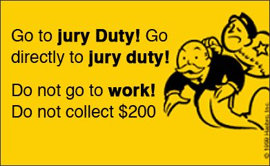 Smith and Blessings: Think It Thursday: Jury Duty