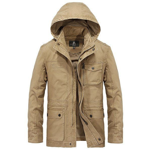31cf19be5e7 Mens Coats Fashion Stylish Casual Hooded Style Outdoor Cotton Men Jacket   jacket
