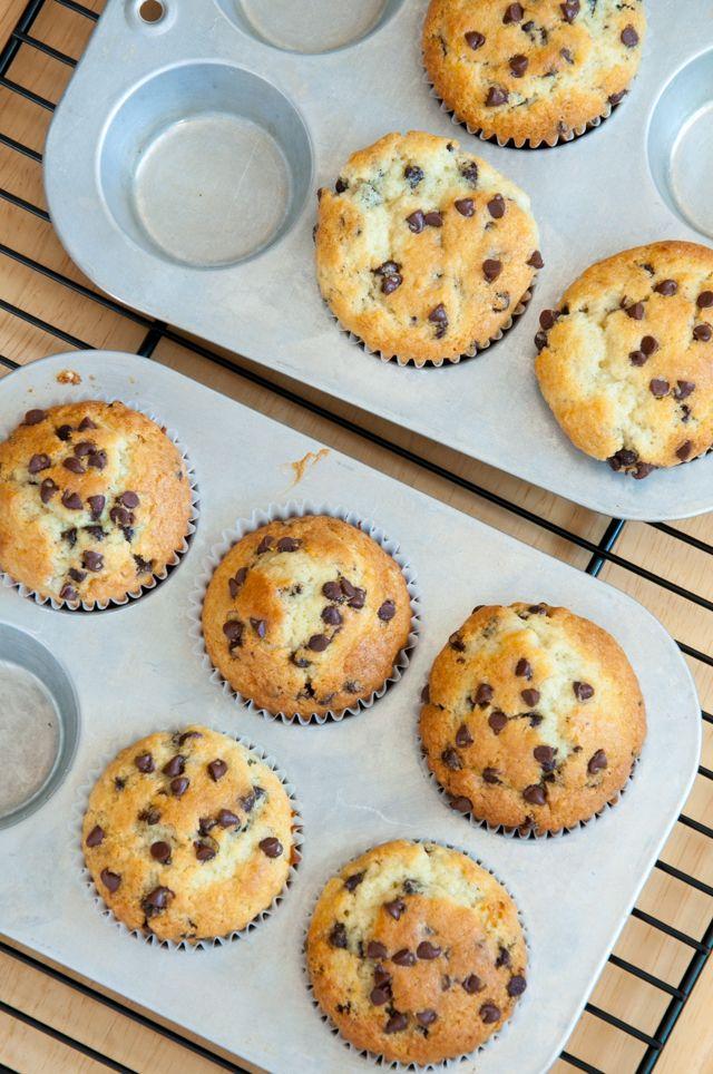 Muffins mit Schokostücken (Teig für Bienenstichmuffins)