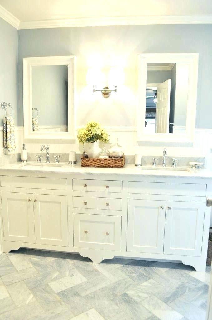 Inspirational Bathroom Vanity Lights Over Mirror Double Sinks Bathroom Laundry In 2020 Bathroom Vanity Decor Bathroom Counter Decor Farmhouse Bathroom Mirrors