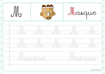 13-trace-les-lettres-majuscule-cursive-m
