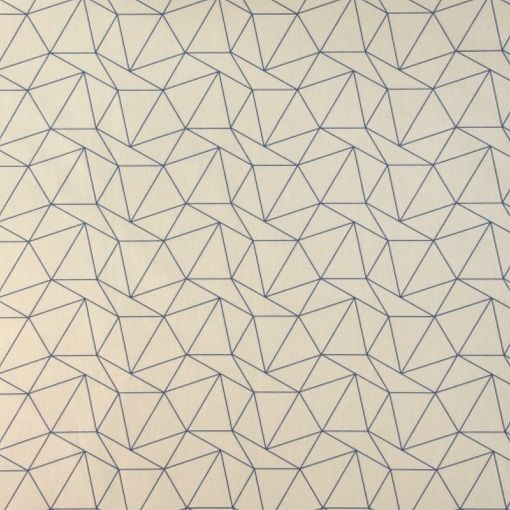 Baumwolle, Sand mit petrol Dreiecken