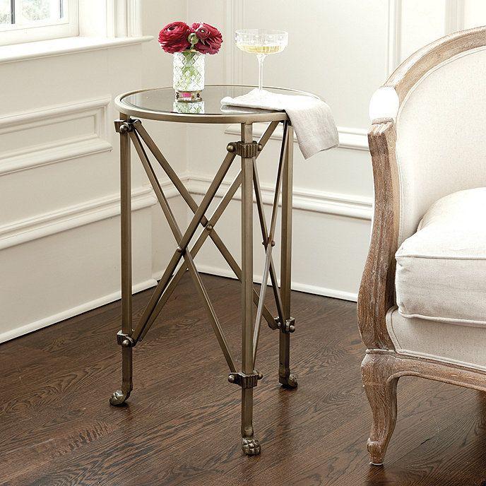 Olivia Mirrored Side Table | Ballard Designs