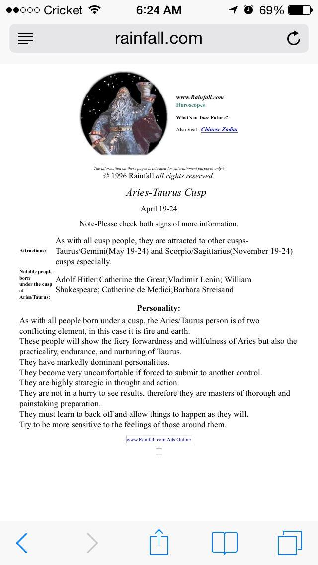Best 25 Aries Taurus Cusp Ideas On Born On Taurus Dates And