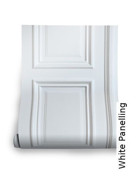 Tapete: White Panelling - TapetenAgentur