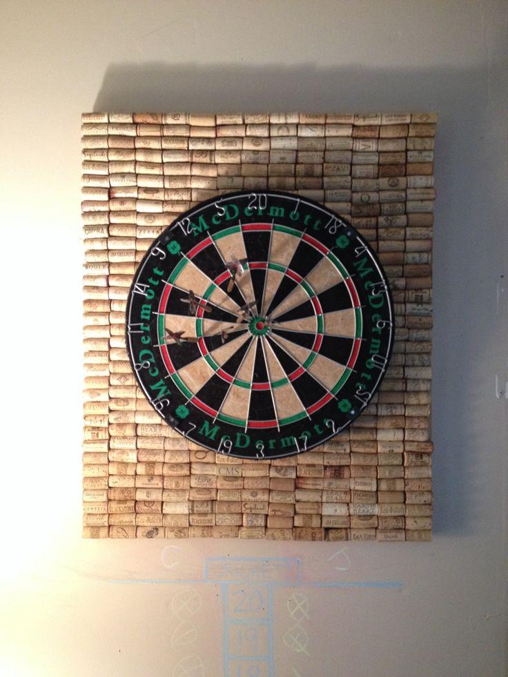 wine cork back board for darts crafty pinterest darts and cork. Black Bedroom Furniture Sets. Home Design Ideas