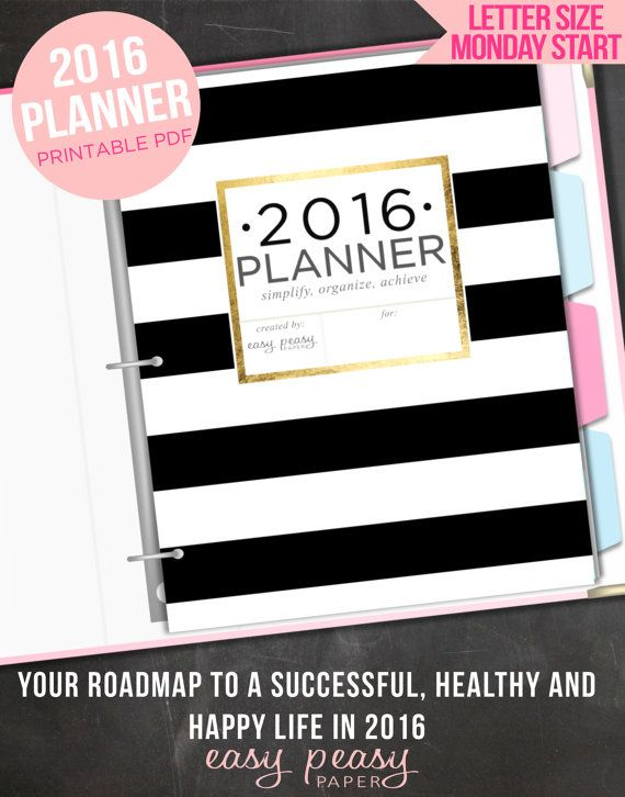 12 Printable Planners for 2016 - Mix and match from this selection of printable planners and plan your best year yet.