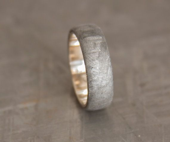 Anillo de meteorito / / anillo de meteorito de oro por aboutjewelry