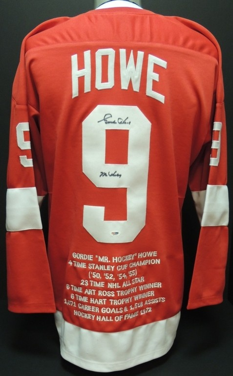 6fadf6cad20 ... Red AAA Sports Memorabilia LLC - Gordie Howe Autographed Detroit Red  Wings Red Jersey with MR HOCKEY ...