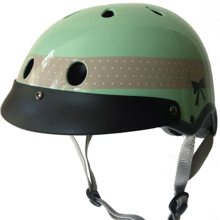 Sawako Furuno Ribbon Helmet (Mint) (sold by velovixen.com)  Sawako Furuno's Ribbon helmet is one of the cutest cycling accessories around.  This helmet has been featured in a number of fashion magazines, and even made a few TV appearances.  The soft and elegant pastel colour is especially versatile, making the Ribbon helmets among the most popular helmets in the range. Finished with a sweet ribbon bow, it will inject a breeziness into your pedalling that few helmets can match. £68