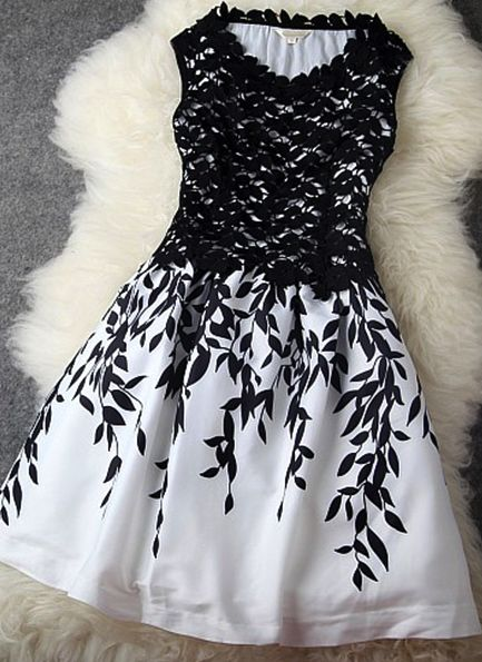 dress for black and white party.