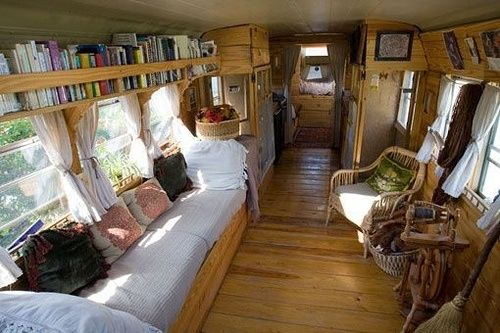 School Bus To Rv Conversion By Blissleaf Remodeled