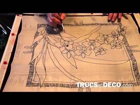 Technique de peinture sur soie - Tutoriel par trucsetdeco.com - YouTube