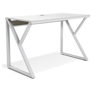 White Writing Desk in Steel by Jesper Office | Overstock.com Shopping - The Best Prices on T & J Computer Desks
