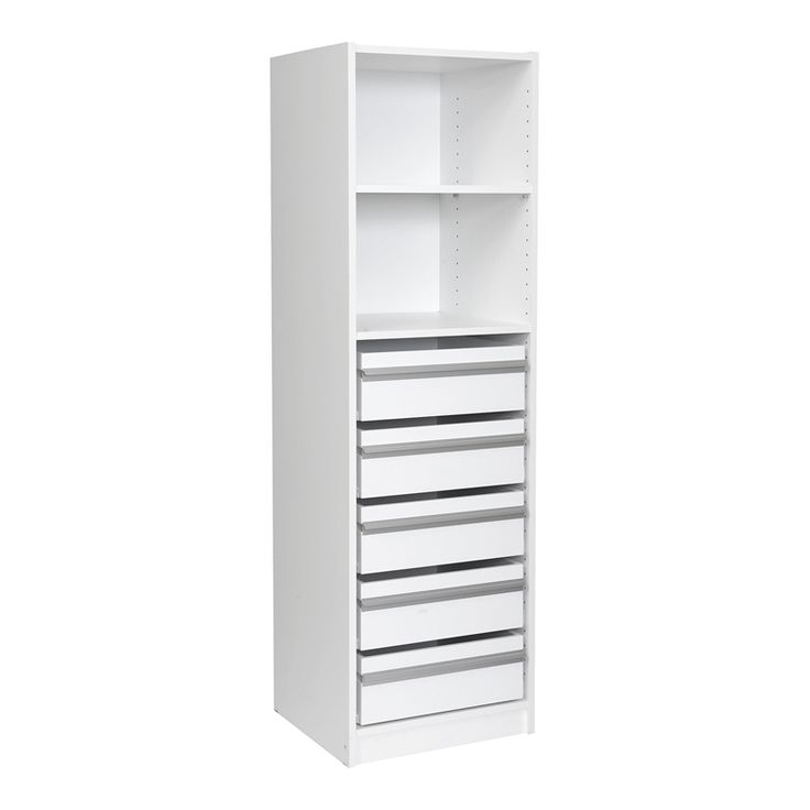 Multi-store 1495 x 450 x 430mm 1 Shelf 5 Drawer Wardrobe Insert