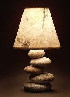 Stacked Rock Lamp / Mark Guido - mainerockguy