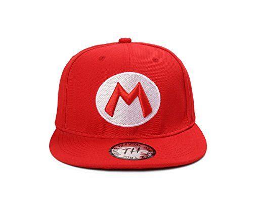 MARIO Red Snapback Baseball Cap by True heads: Amazon.co.uk: Clothing
