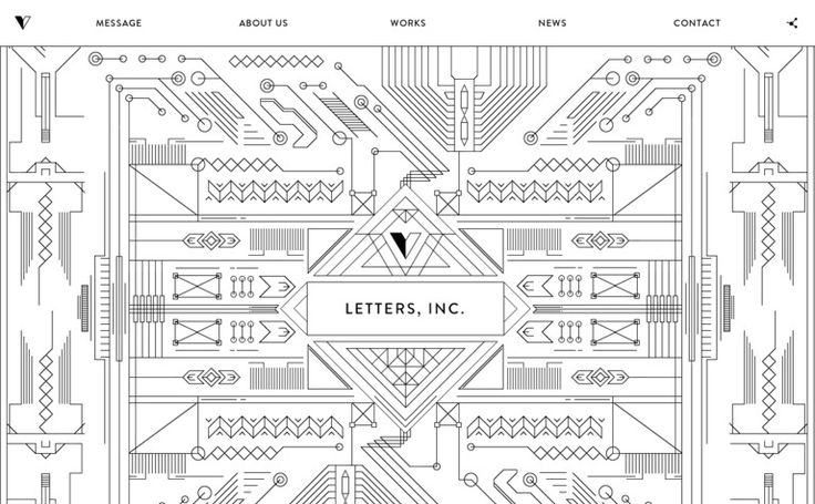 http://letters-inc.jp/ black and white. fun navigation and design.