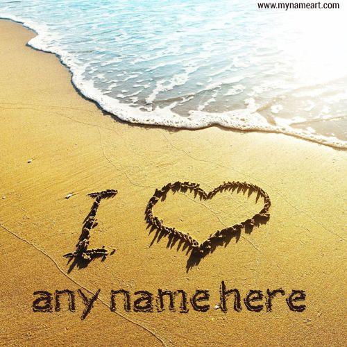 WRITE NAME ON Cute PICS