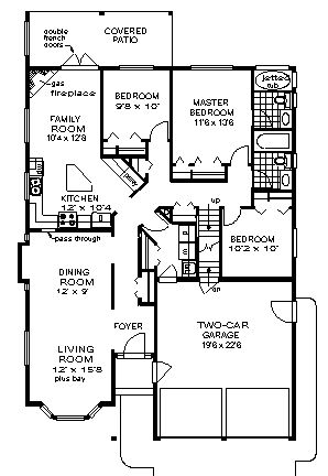 71 best images about house plans on pinterest craftsman for Narrow lot ranch house plans