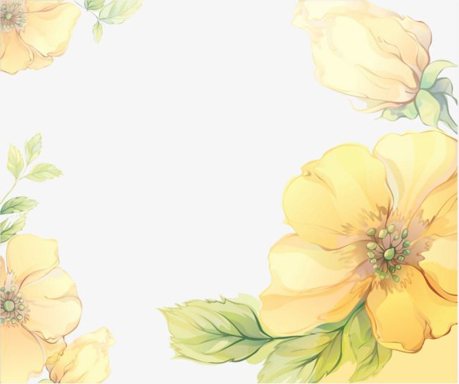Vintage Yellow Floral Wallpaper
