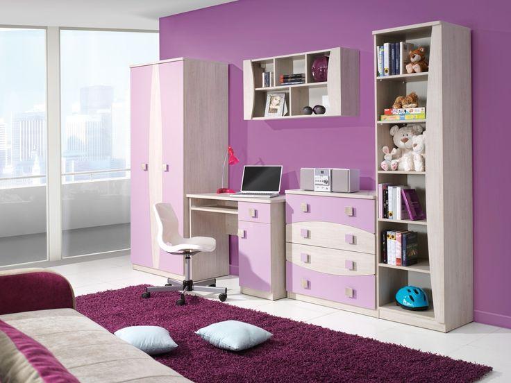 Różowe mebelki dla dziewczynki - do nauki, zabawy i odpoczynku. Pink furniture for the girl - for the learning, the play and the rest. #pink #kids #room #play #girls #furniture #mirjan24