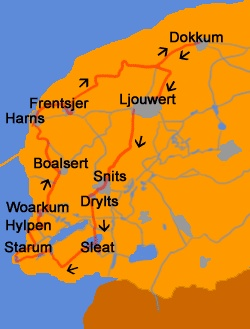 Elfstedentocht: Eleven Cities Tour ice skating in Friesland