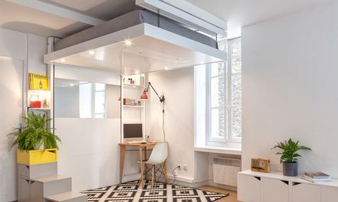 Кровать под потолком | Мебель для дома в журнале AD | AD Magazine