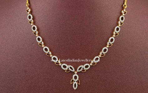 Fancy Indian Diamond Necklace Designs