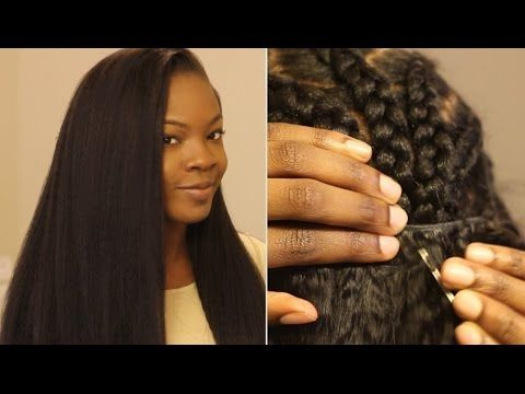 How to Put in a Sew In Weave on Yourself: Most Natural Looking - YouTube