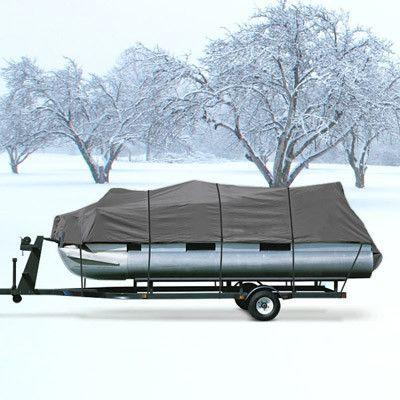 Pontoon Boat Cover Gray Fits 17 19 Beam 96 Quot Pontoon